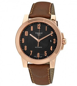 Relógio Tissot Gentleman Swissmatic Automático Marrom/rosé