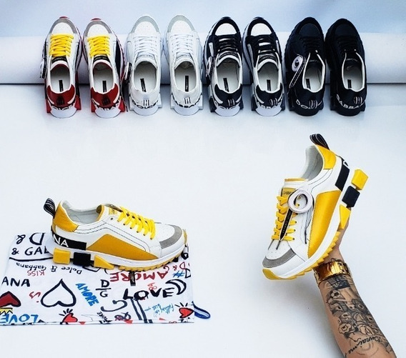 Tenis - Dolce & Gabbana Couro Linha Premium - Envio Imediato