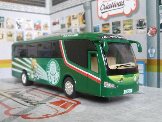 Miniatura Ônibus Do Palmeiras Em Metal Time De Futebol