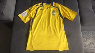Camisa Oficial Seleção Suécia Eurocopa Com Patches Oficiais