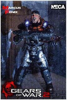 Gears Of War 2: Marcus Fenix. 12 Pulgadas (con Luces). Neca