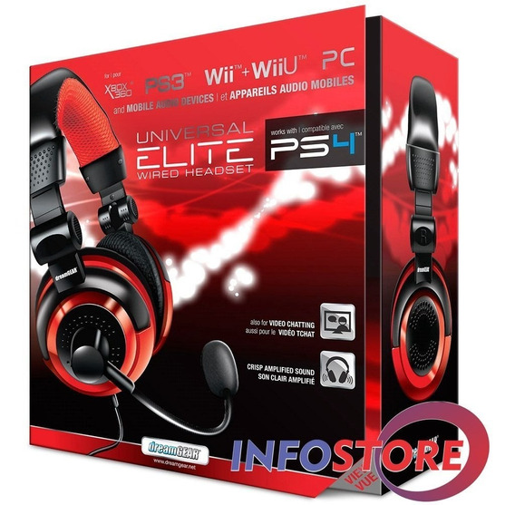 Headset Gamer Dreamgear Elite Ps3 Ps4 Pc Xbox Xbox One*