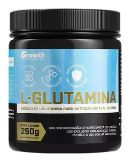 L-glutamina 250g Growth Original Pronta Entrega