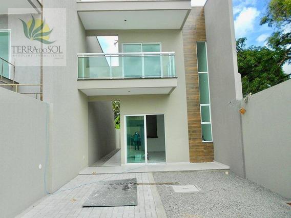 Casa Com 4 Dormitórios À Venda, 120 M² Por R$ 300.000,00 - Messejana - Fortaleza/ce - Ca0774
