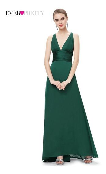 Vestido De Mujer Noche Satinado Gala Largo Elegante