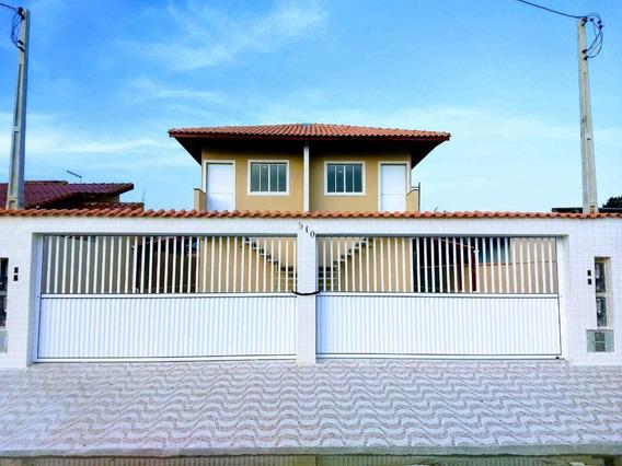4059- Casa Sobrepostas Condomínio Fechado Itanhaém R$150 Mil
