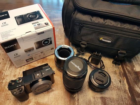 Sony A6000 + Lente Kit + Lente 100mm Macro