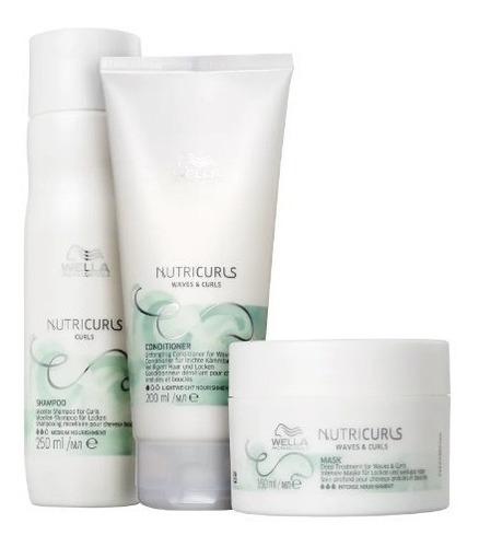 Kit Wella Nutricurls Sh Cond Mascara Home Care C/nf Original