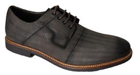 Sapato Ferracini Couro Rustico - 53811291 Grafite