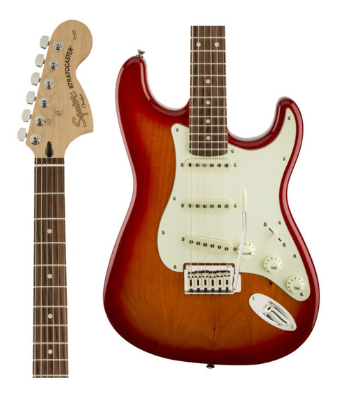 Guitarra Fender Squier Standard Strato Ltd Lr Cherry Sb