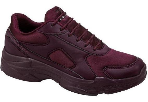 Chunky Sneakers Gloria Trevi Tenis Casual Vino Para Dama