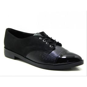 Sapato Oxford Feminino Piccadilly 725025 - Preto
