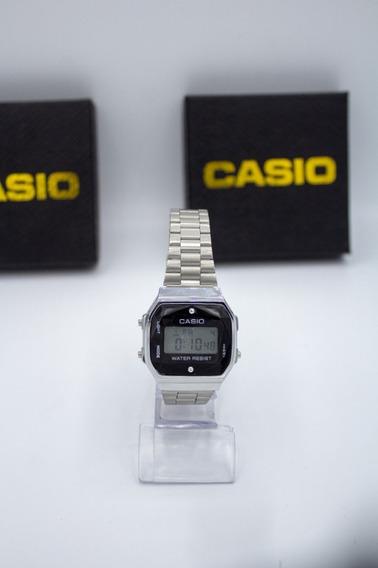 Relógio Feminino Masculino Cásio Vintage Diamonds Prateado