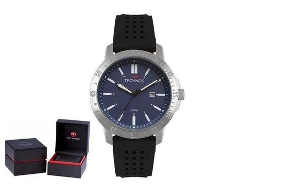 Relógio Technos Masculino Silicone 2115mqv/8a Original + Nf