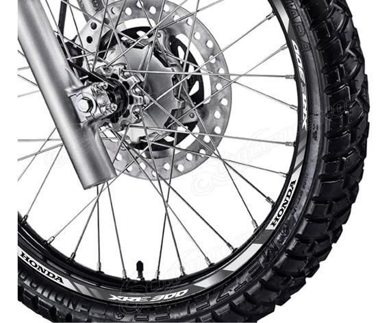 Friso Adesivo Refletivo D2 Roda Moto Honda Xre 300 Xre300