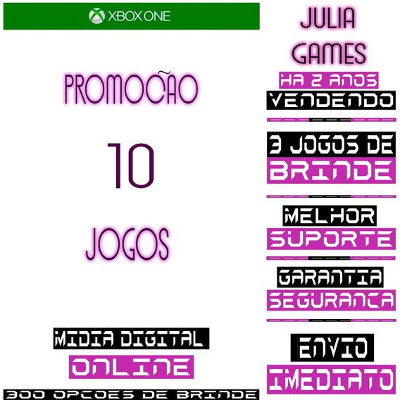 Pacote 10 Jogos Julia Games Xbox One Digital Offline+ Brinde