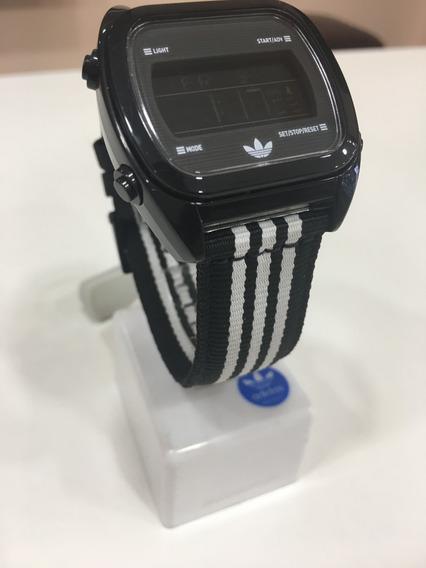Relógio De Pulso adidas Adh2588z Digital Preto Original