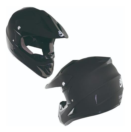 Casco Tipo Cross Moto Negro Mate Dot Tallas