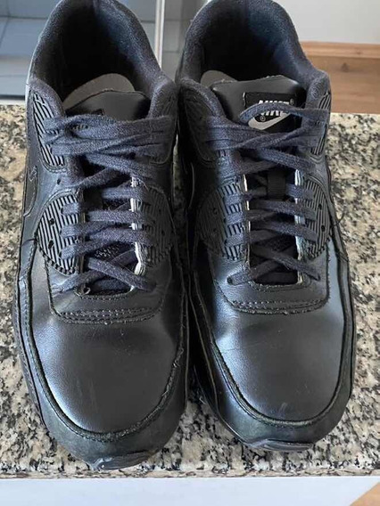 Tênis Nike Air Max 90 Essential Triple Black Usado