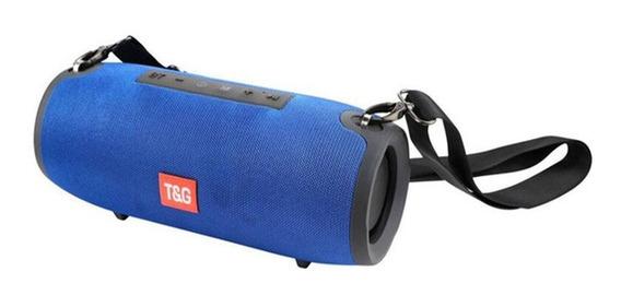 Caixa De Som Bluetooth Portátil Usb P2 Sd Com Alça Tg-125
