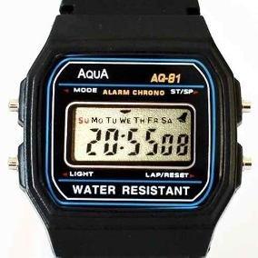 Relógio Digital De Pulso Aqua Aq-81 - Estilo Cassio