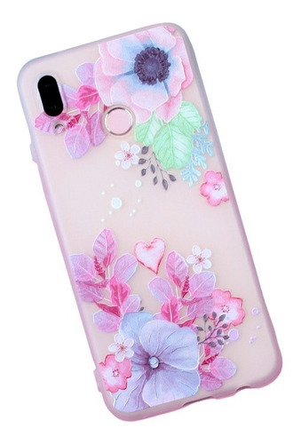 Imagen 1 de 3 de Funda Protector Flores Slim Dama Hermosa Para Xiaomi Redmi