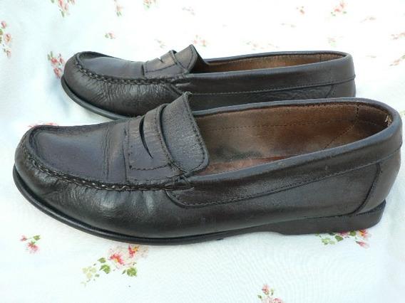 Mocasin Hombre Zapato Nº 37 37.5 Cuero