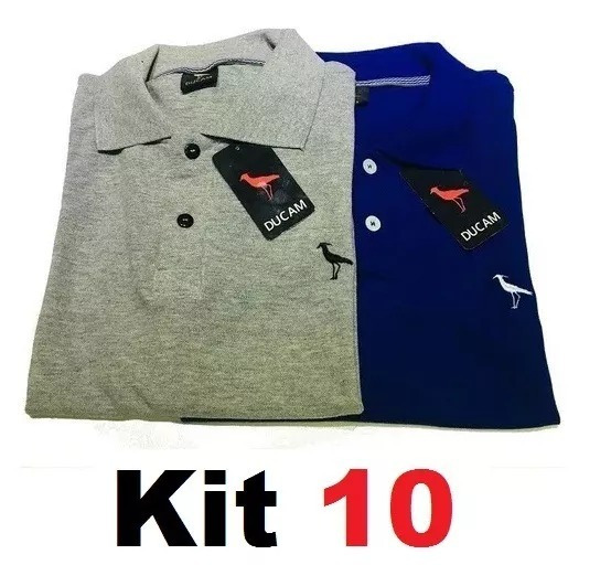 Kit 10 Camisas Camisetas Gola Polo Masculina Camisa Blusas
