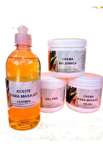 Cremas Para Masajistas 4 Productos