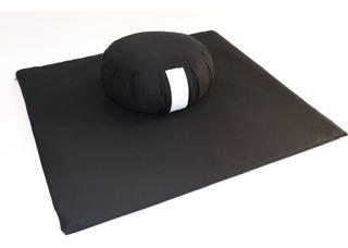 Zafu+zabuton Almofadas De Meditação/zazen - Preto