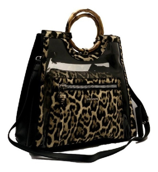 Cartera Animal Print Barbara Bags Xu130 By Ibbags