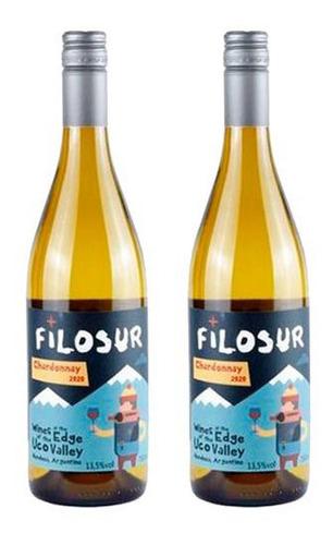 Kit 2 Unidades Vinho Branco Filosur Chardonnay 2020 750 Ml