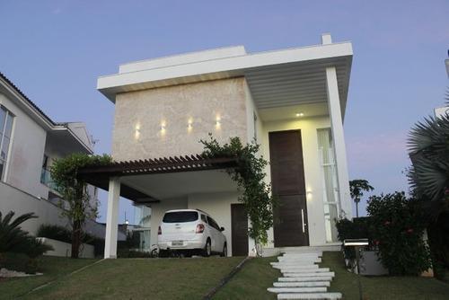 Imagem 1 de 14 de Casa Mobiliada No Alphaville Natal - 5/4 - 327m² - Catuana
