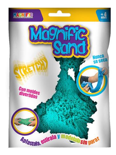 Imagen 1 de 8 de Arena Kinetica Magica Magnific Sand Turquesa Con Moldes