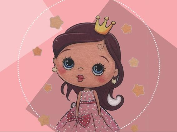 Blusa Infantil Básica Menina Rosa Princesa
