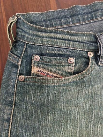 Calça Diesel Feminina Jeans 40 Azul Única Importada Original