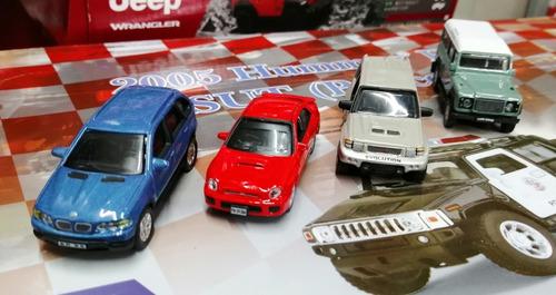 Carros De Colección X4 A Escala 1/72 Lan Rover, Bmw, Subaru