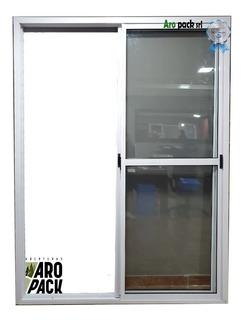 Puerta Ventana Balcón Aluminio Blanco 150x200 Vidrio 4mm