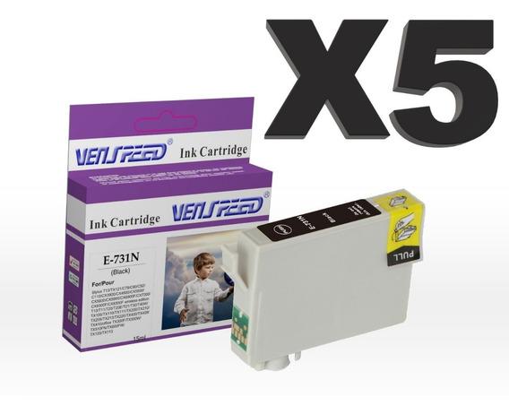 Cartucho Compatible Epson 73n 73 Negro Y Colores T20 Tx100