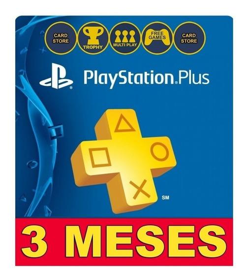 Playstation Psn Plus 3 Meses | Ps4 | Você Online