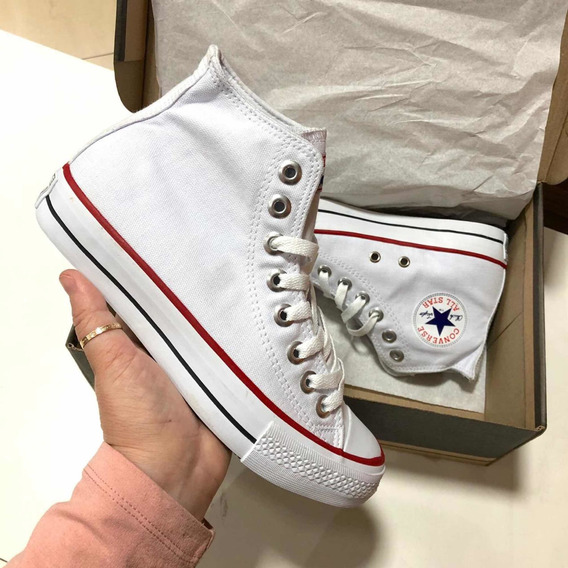 Bota Converse All Star Branco Branco