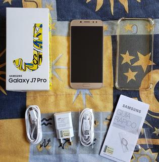 Celular Samsung Galaxy J7 Pro Dourado 64 Gb +capa +película
