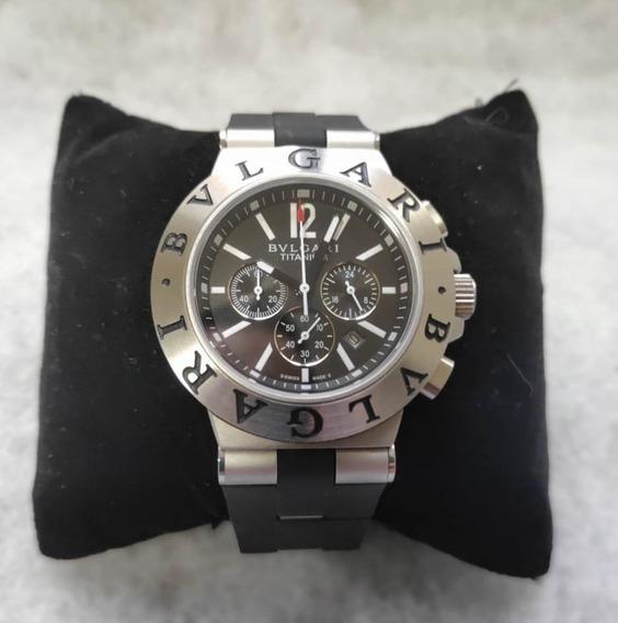 Relógio Titanium Cronógrafo 44mm Safira Não É Seiko/rolex
