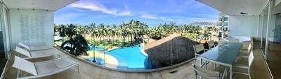 Cad Solar Ocean 402. Terraza Con Vista A Las Áreas Comunes, Albercas, Jardín Y Al Mar