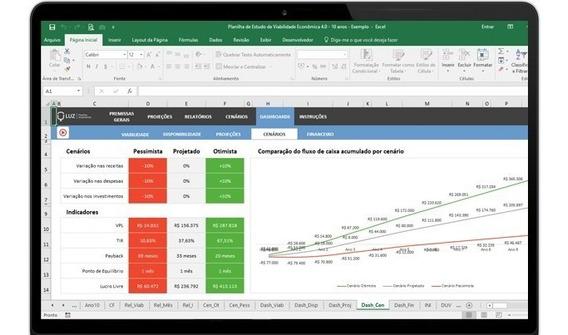 Planilha De Estudo De Viabilidade Econômica Luz 4.0 Oficial