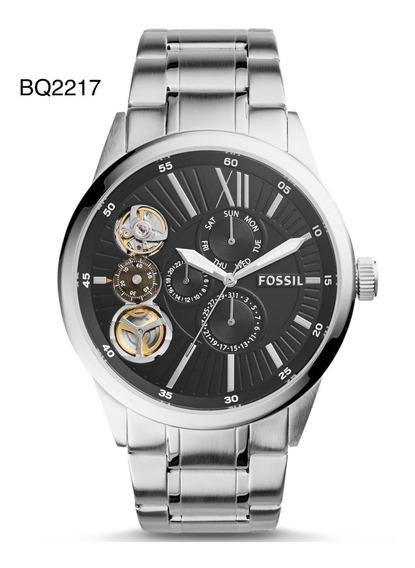 Relógio Pulso Fossil Aço Prata Mecânico Analógico/quartzo