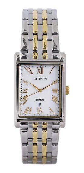 Reloj Citizen Rectangular Bh3004-59d Plata-dorado De Hombre