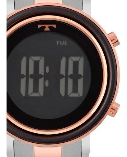 Relógio Technos Feminino Digital Rose Gold E Prata Aço Metal Bj3059ab/5p Original