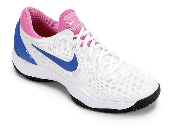 Tenis Nike Air Zoom Cage Branco E Azul Rafael Nadal