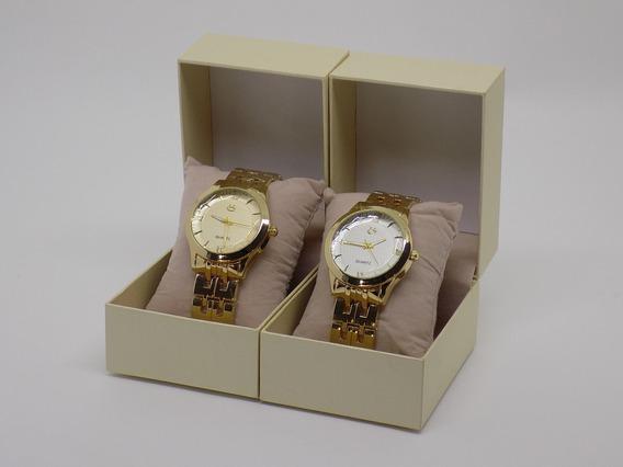 Kit 2 Relógios Feminino Original Com Caixa Varejo Atacado